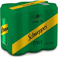 Schweppes Ginger Ale,  330ML (Pack of 6)