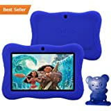 "Contixo Kid Safe 7"" HD Tablet WiFi 8GB Bluetooth, Free Games, Kids-Place Parental Control W/ Kid-Proof Case (Dark Blue) - Best Gift"