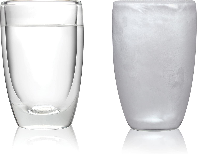 Amsterdam Glass Vaso de Doble Pared, Juego de 2 Piezas, 290 ml, FDRN01042