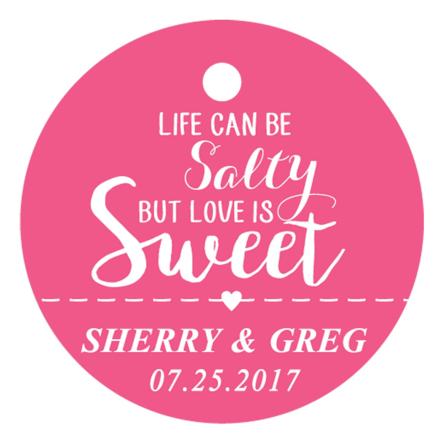 Amazon.com : 100 PCS Life Can Be Salty But Love is Sweet Customized ...
