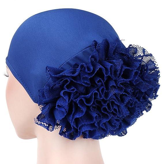 Elegantes Sombreros y Gorras de Mujer Encaje Musulmán Flores Tapa del  Turbante Cáncer Chemo Beanie Bufanda Turbante Gorras  Amazon.es  Ropa y  accesorios 957435ad0ca