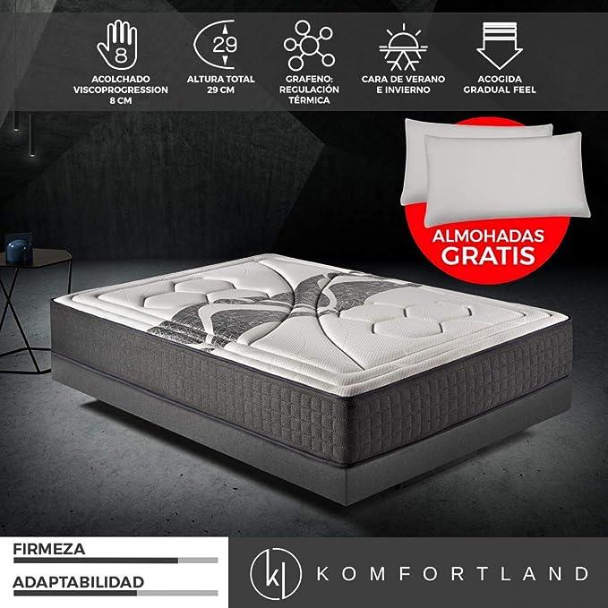 Colchón viscoelástico Memory Vex Prime Medida 90x190 cm con almohada gratis: Amazon.es: Juguetes y juegos