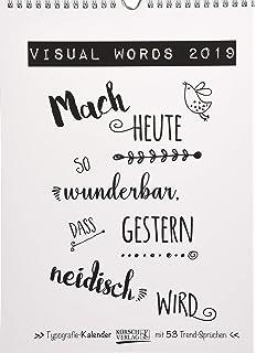 Spruche Kalender 2019 Typo Kalender Von Funi Smart Art Poster