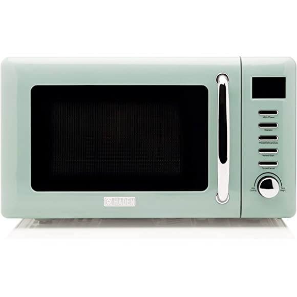 Haden 186683 Cotswold Sage Green Microwave, 20 Litre, 700 W