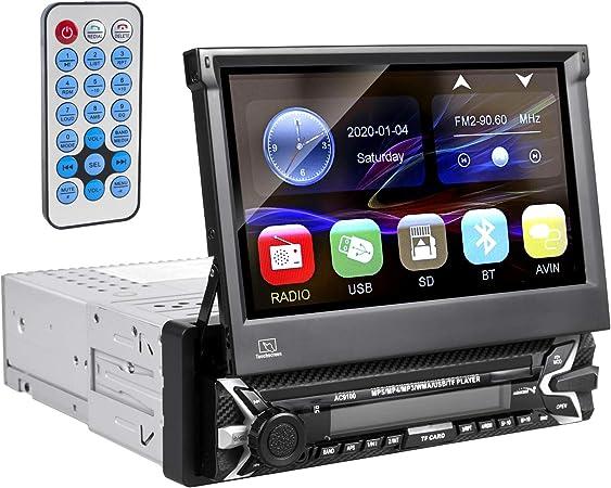 Audiocore Ac9100 Multimedia Autoradio Lcd 7 Bildschirm Touchscreen 1080p Mp5 Avi Divx Bluetooth Handsfree Rds Digitalradio Fernbedienung 1 Din Navigation