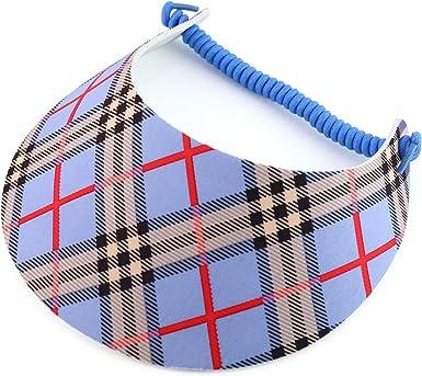 2 Pack Lightweight Foam Sun Visor String Coil Tennis Visor