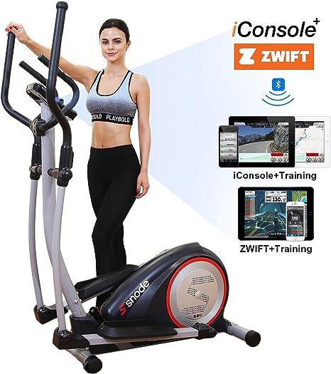 SNODE E20i Máquina elíptica magnética para Entrenamiento, Fitness, Ejercicio, Equipo para el hogar con Capacidad Bluetooth: Amazon.es: Deportes y aire libre