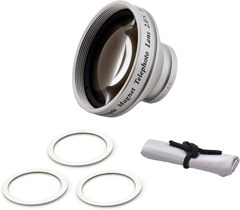 Cronies Micro-Fiber Cleaning Cloth Magnetic Lens Flip UltraHD 2.0x Telephoto