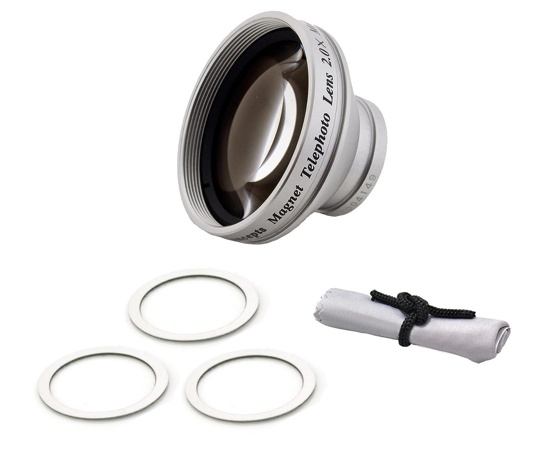 フリップビデオf460 2.0 X望遠( modificationスタイル)磁気レンズ+ Croniesマイクロファイバークリーニングクロス   B003XX2MNO