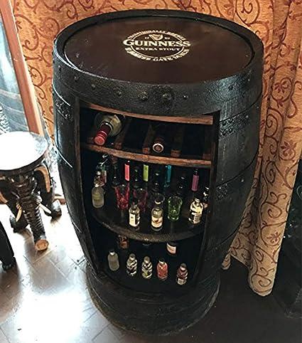 Barra de whisky rústica de roble macizo Guinness marca Barril ...