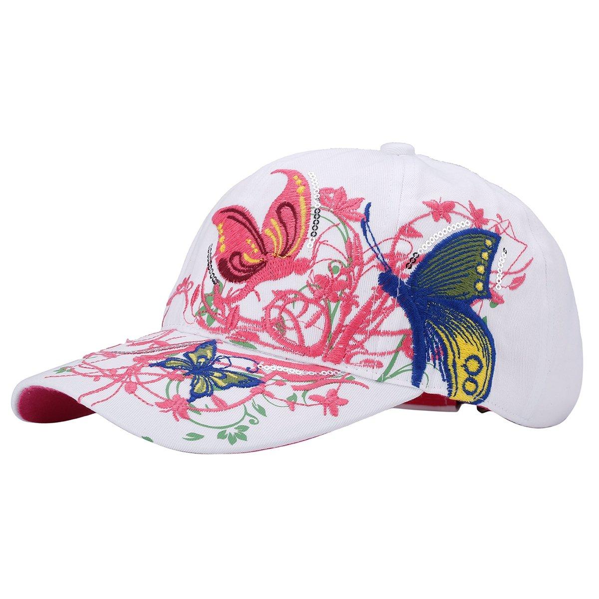 TININNA Casquette de Baseball Casquette de Baseball r/églable Motif Papillon Bonnet Casquette Trucker Casquette Chapeau Randonn/ée Chapeau pour Les Femmes Femme wei/ß