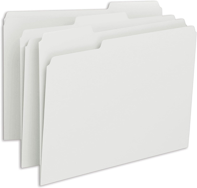 Smead File Folder, 1/3-Cut Tab, Letter Size, White, 100 per Box (12843)