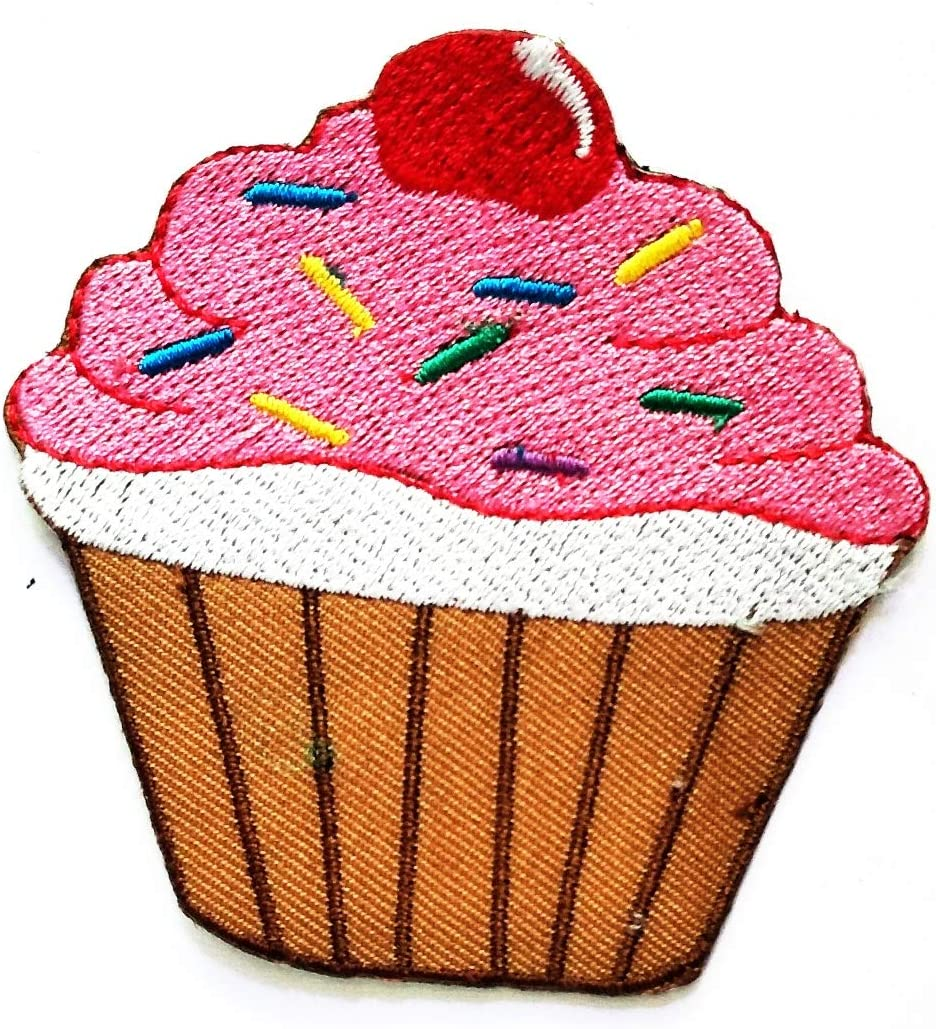 Iron On Embroidery Applique Patch Sew Iron Badge Delicious Cream Cupcake