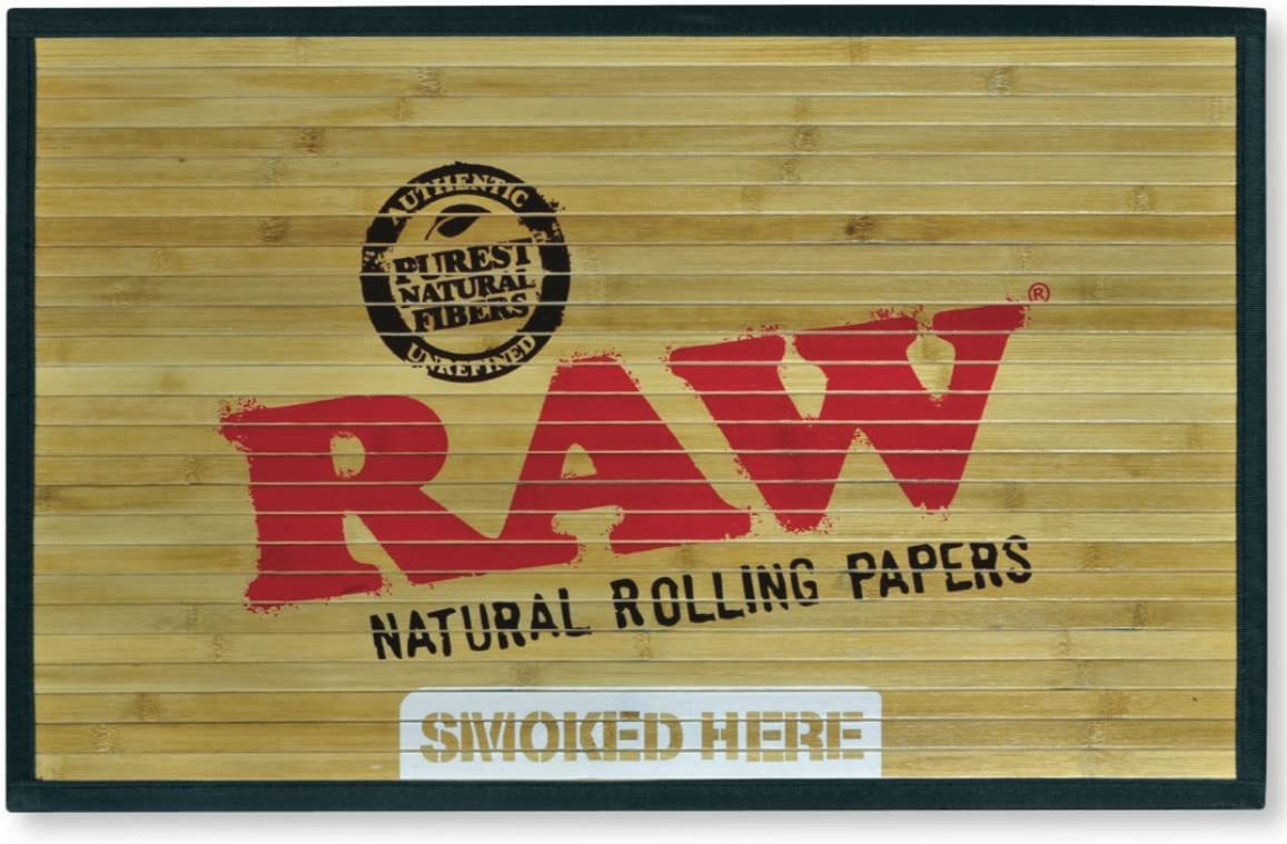 RAW Natural Rolling Papers – Bamboo Door Mat 30 x 18