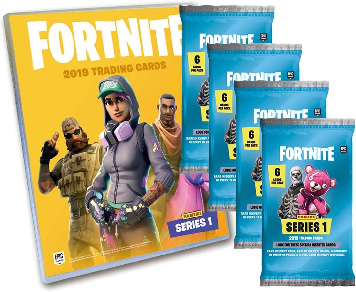 Panini 009909 Fortnite - Juego de Carpetas y 4 Paquetes de Cartas coleccionables, Multicolor: Amazon.es: Juguetes y juegos