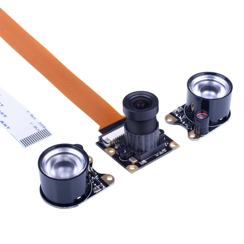 Kuman Camera Module for Raspberry Pi Zero W 3 Model B B+ A+ 2 1 5MP 1080p OV5647 Sensor HD Video Webcam Night Vision Camera SC15-1 SC15-Cam-UK