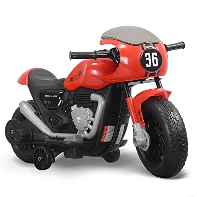 Fitnessclub 6V Kids Ride On Electric Motorcycle Ride On Toy for Kids Red: Toys & Games