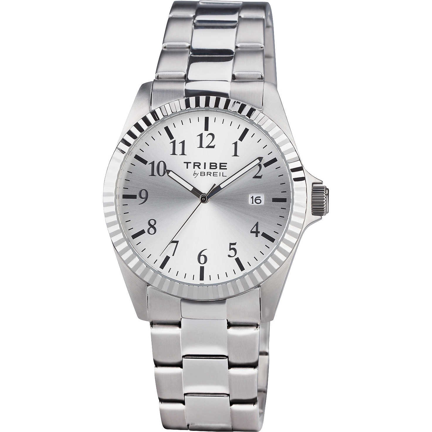 Sólo reloj de acero inoxidable de tiempo reloj de los hombres con calendario BREIL EW0198