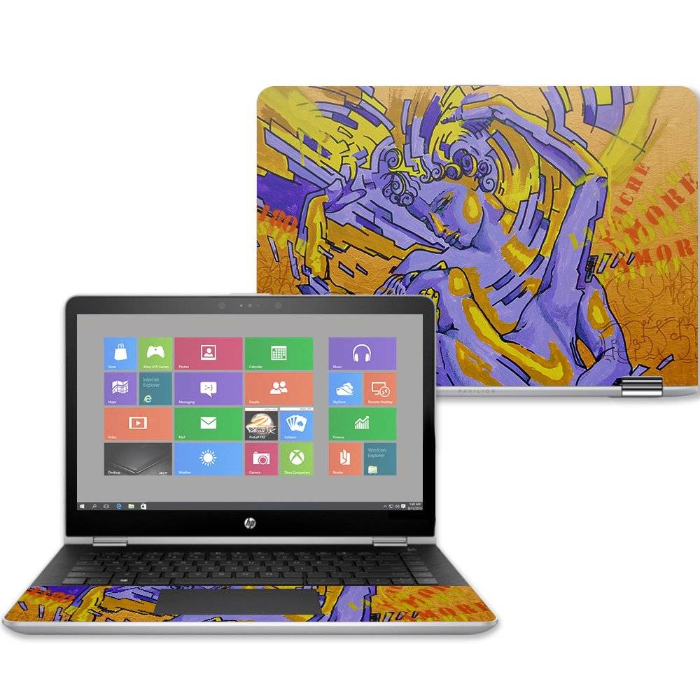 Mightyskins Skin Compatible with Hp Pavilion X360 14'' (2017) - Amore | Protective, Durable, and Unique Vinyl Decal Wrap Cover | Easy to Apply, Remove, and Change Styles | Made in The USA