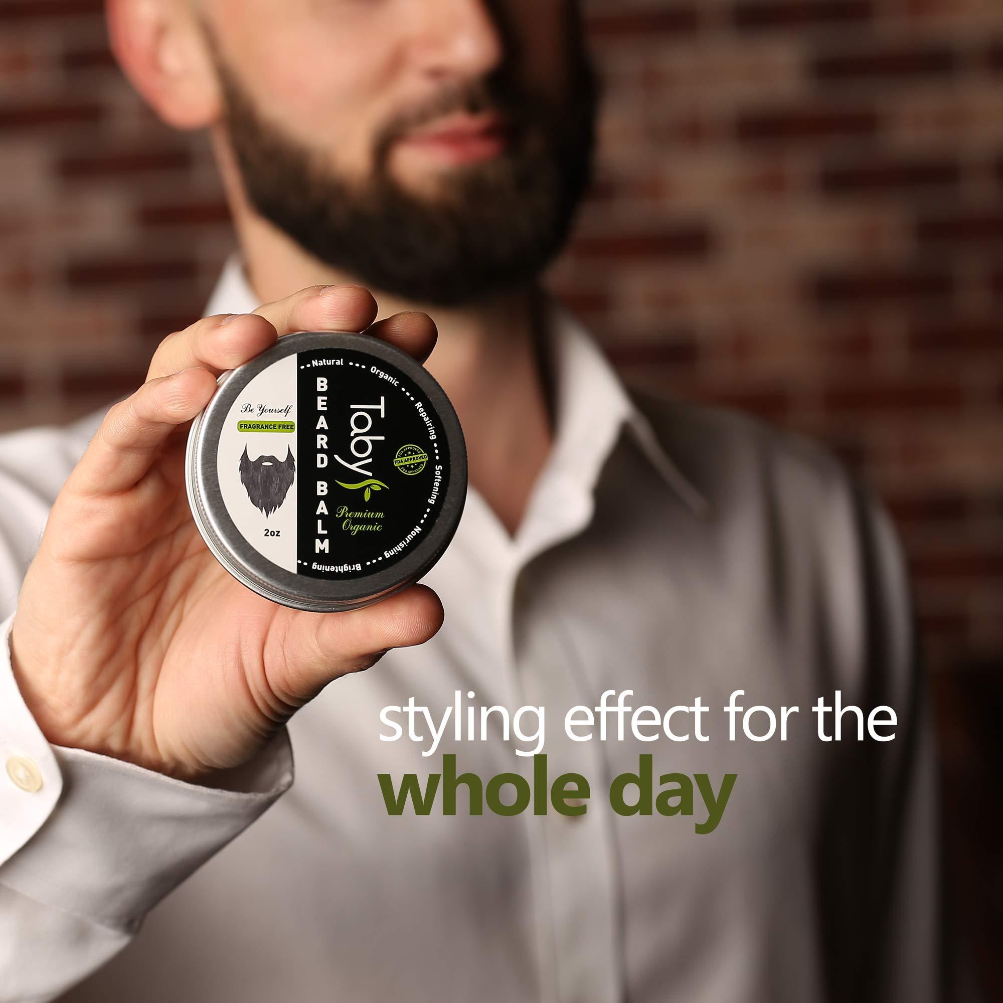 Beard Balm with Argan & Jojoba Oils - Eucalyptus Scent Conditioner Strengthens & Softens Beards & Mustaches