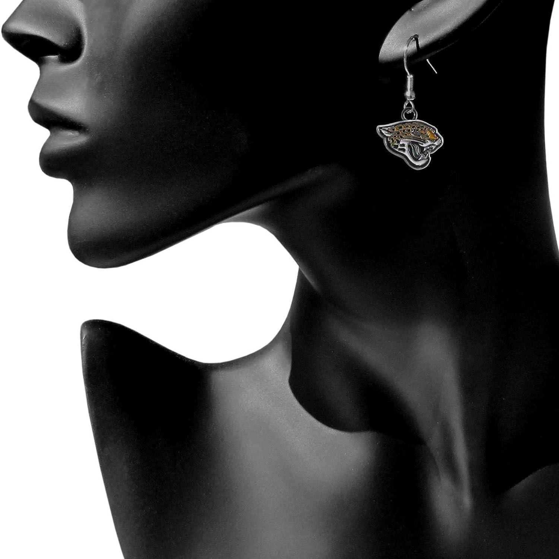 Siskiyou NFL Chrome Dangle Earrings