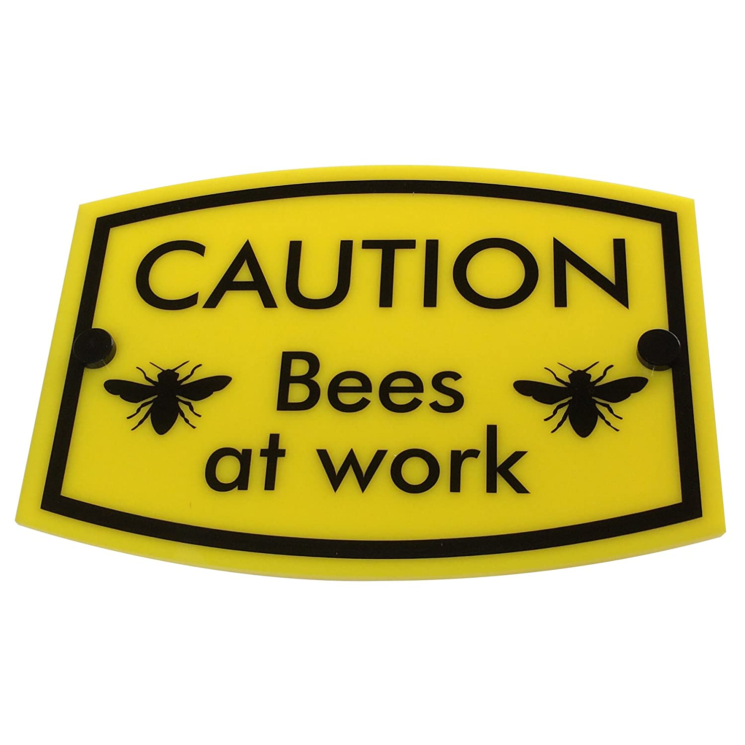 DSD Supplies ltd. Bee Keeping Warning Sign 'CAUTION Bees at work' | PREMIUM QUALITY | water-, frost-, rust- & weatherproof, UV-resistant made for long term outdoor use