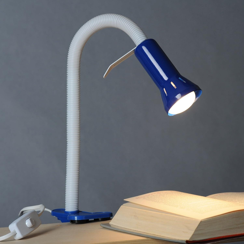Praktische Klemmleuchte mit Flexgelenk, flexible Arbeitsleuchte, 1x E14 max. 40W, Metall/Kunststoff, mehrfarbig [Energieklasse A++] Lightbox