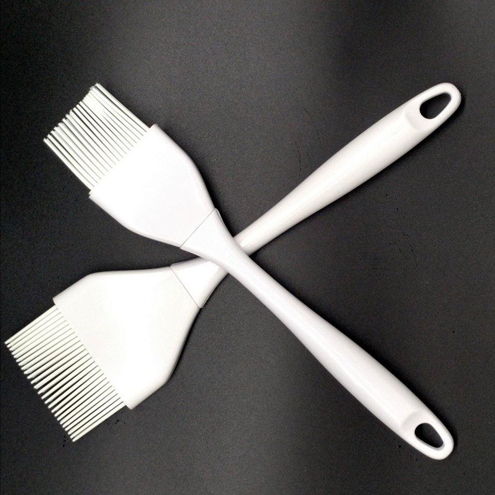 Cepillo de crema de silicona para pasteles - Cepillo de crema para barbacoa, 2 juegos de cepillos de pintura resistentes al calor Diseño elegante + ...
