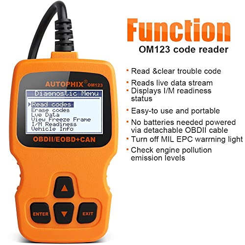Autophix OM123 is designed with simplicity and efficiency for average car owners.