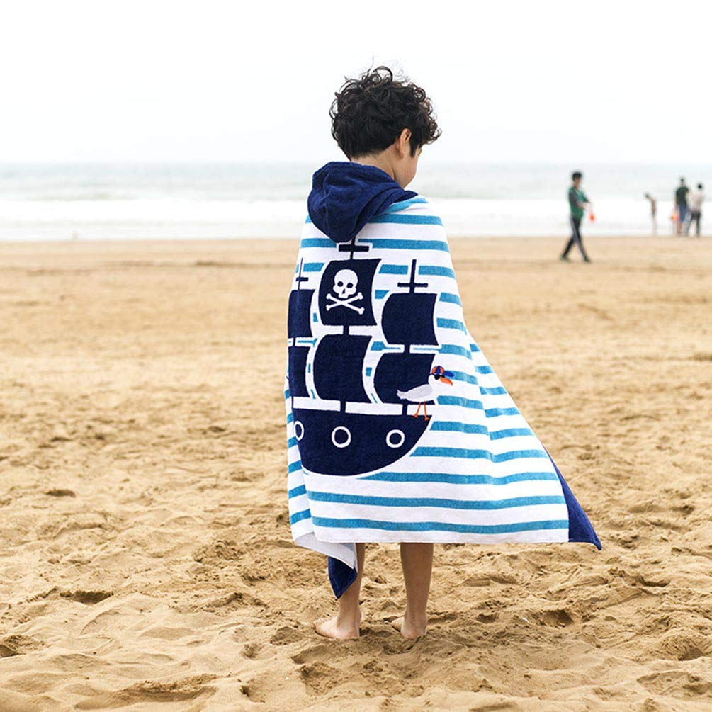 Childrens Bath Towels 100/% Cotton Cover-Ups Kids Hooded Beach Bath Towel 76 127cm L*W