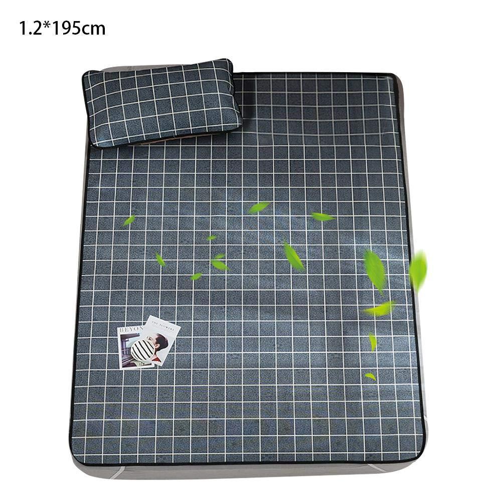Einzelne Doppelte Faltmatte dewdropy Sommer-K/ühlmatratzenmatte Bequemer Schlaf-Sitzkissensatz Drucken Aus Viskose-Faser