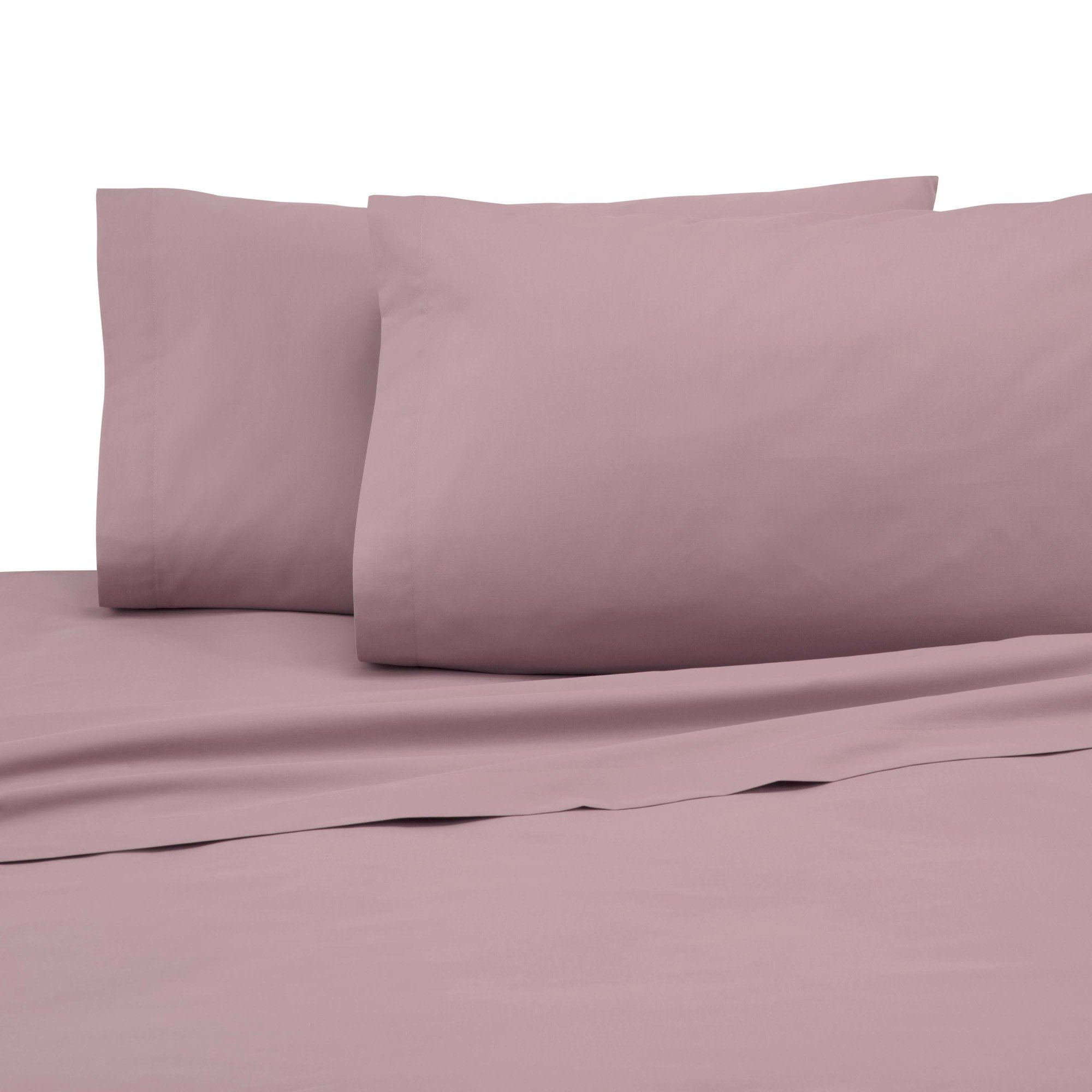 Martex Cotton Rich Pillowcase Pair - Brushed Cotton Blend, Super Soft Finish, Wrinkle Resistant, Quick Drying,  Bedroom, Guest Room  - 2-Piece Standard Pillowcase Pair, Dusty Rose