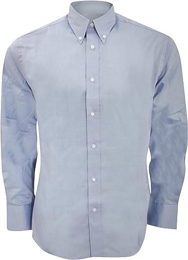 KUSTOM KIT - Camisa Ajustada de Manga Larga Modelo Oxford Premium - Trabajo/Boda/Fiesta: Amazon.es: Ropa y accesorios