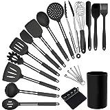 Juego de utensilios de cocina – 20 utensilios de cocina de silicona – Espátulas de cocina para utensilios de cocina antiadher
