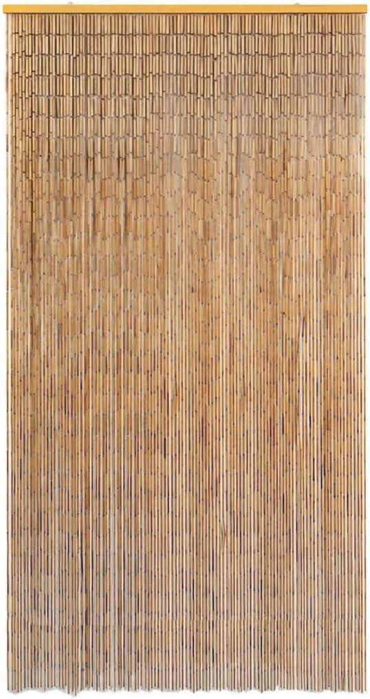 Tidyard Rideau de Porte Rideau de Exterieur Contre Insectes Bambou 56 x 185 cm