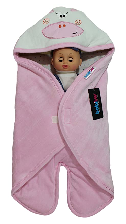 Babilav Hooded Baby Blanket And Baby Wrapping Blanket For New Born