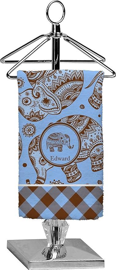 Cuadros y elefantes toalla de punta de los dedos (personalizado)