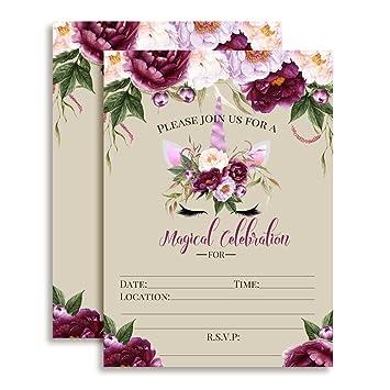 amazon com violet peony unicorn face with purple watercolor flowers
