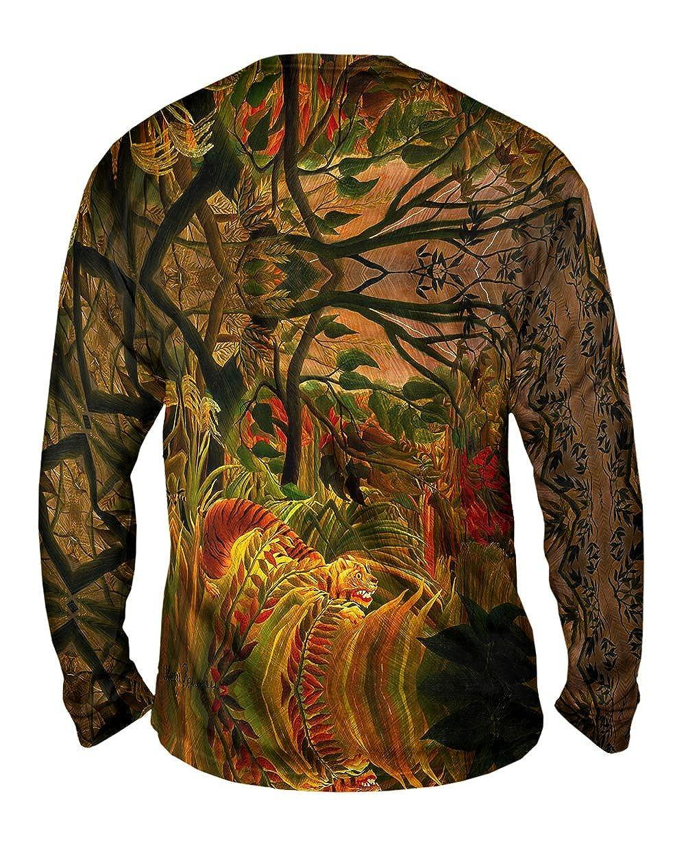 Tiger in a Tropica Yizzam Henri Rousseau Mens Long Sleeve 2499