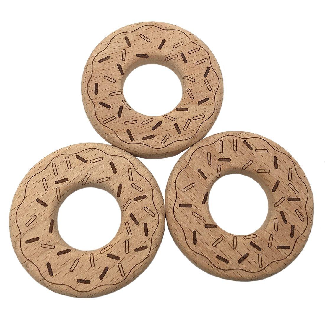 coskiss Clip de madera de haya dentaruolo Donuts Mordedor ...