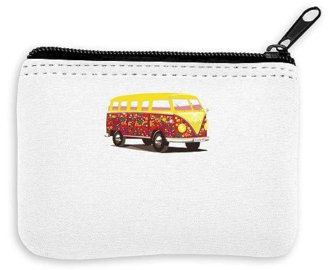 Hippie Bus Peace Drawing Monedero de la Cremallera de la ...