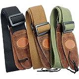 Muxico® Cool Design Cotton Leather Guitar Strap,green