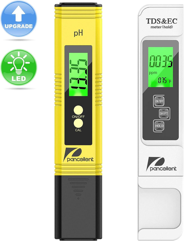 Calidad del Agua Medidor de Prueba pancellent TDS PH CE Temperatura 4 en 1 Set