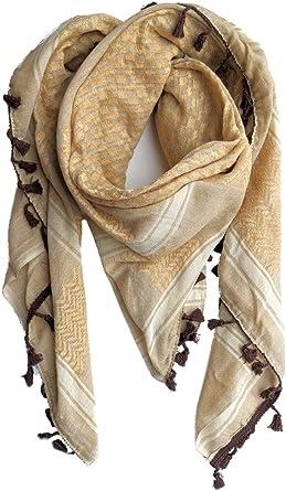 Hirbawi Premium - Bufanda árabe 100% algodón Shemagh Keffiyeh 47 x ...