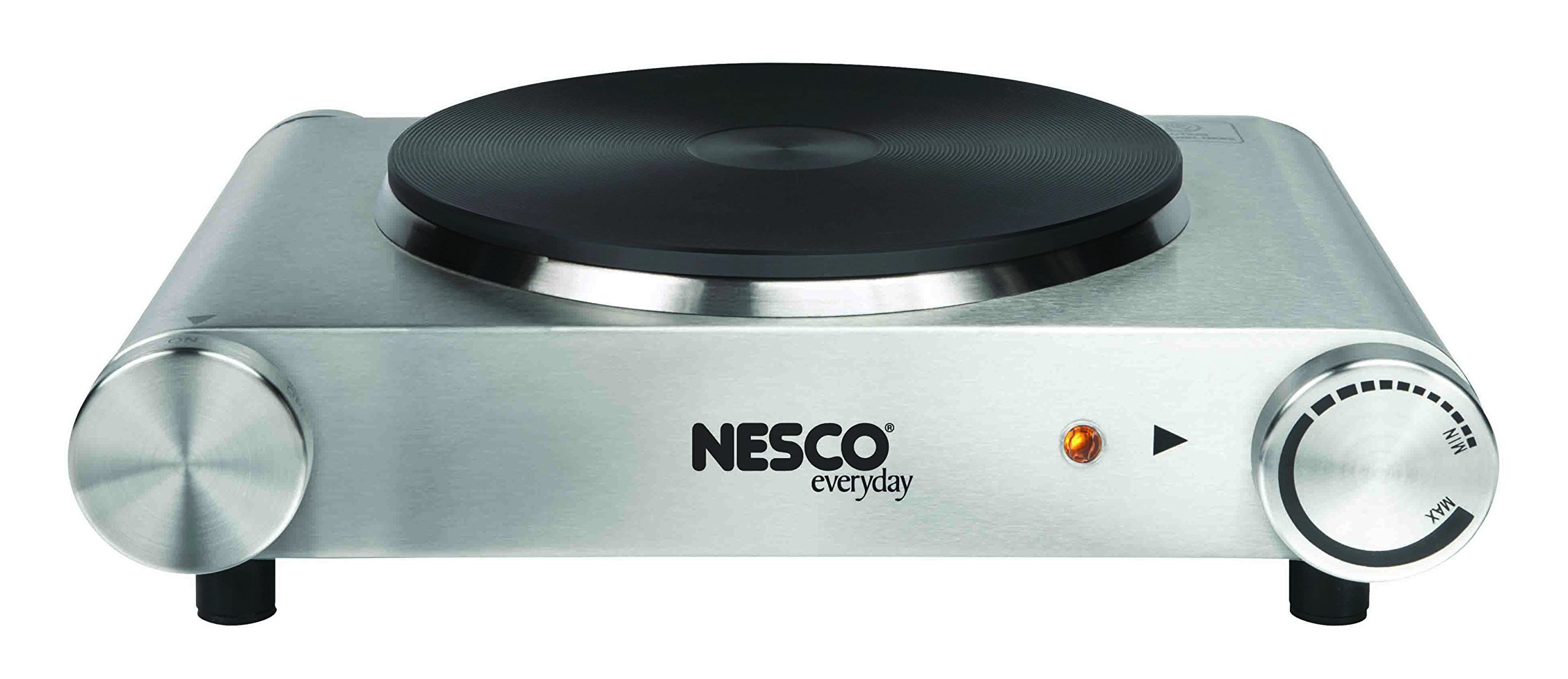 Nesco SB-01 Stainless Steel Electric Burner, 1500-watt