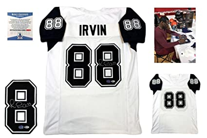 e177e9b4be0 Michael Irvin Signed Jersey - Beckett White TB - Beckett Authentication -  Autographed NFL Jerseys