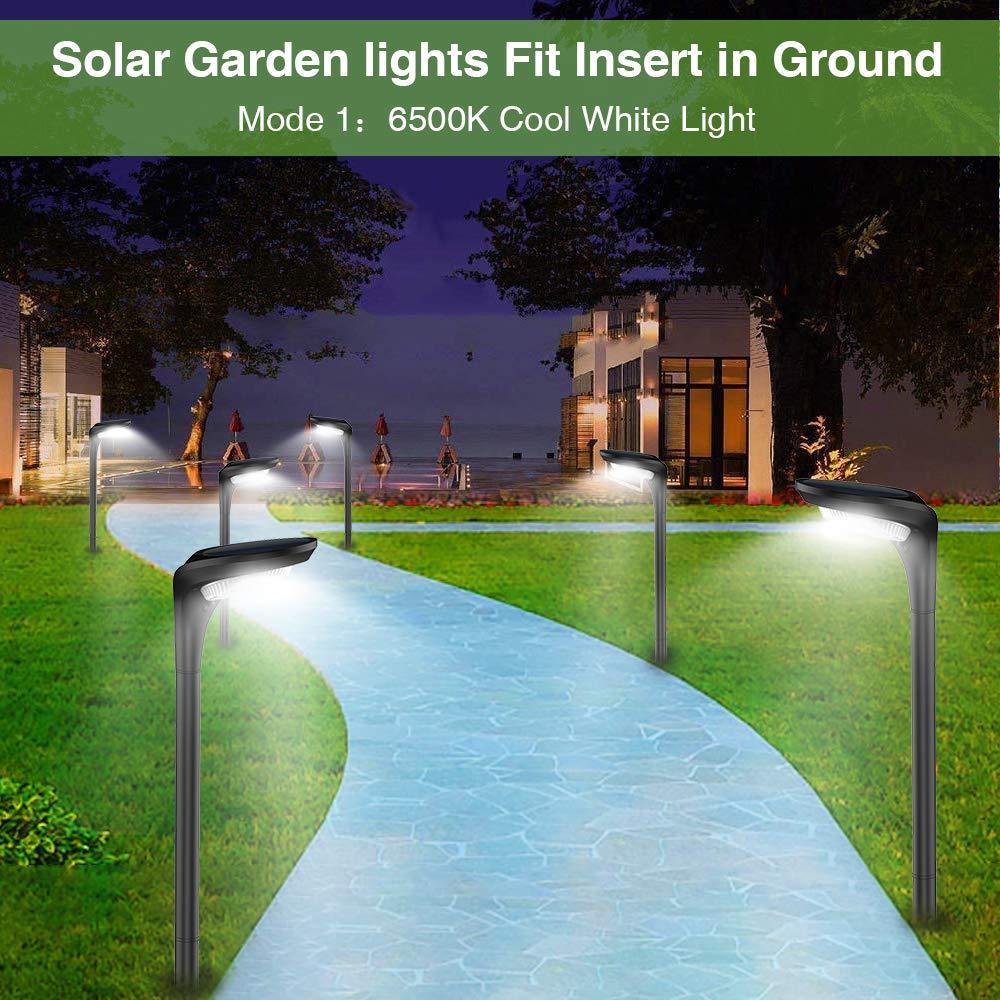 Solar Lights Outdoor,7 Color Solar Pathway Lights Outdoor Garden Lights Landscape Lighting Weatherproof Auto On//Off for Garden Lawn Patio Yard Walkway Sidewalk Driveway 1 Pack