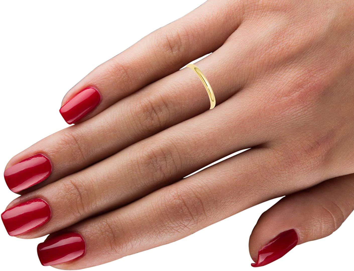 10k Yellow Gold 2.5mm Half Round Band Ring Size 9.5 Fine Jewelry Ideal Gifts For Women