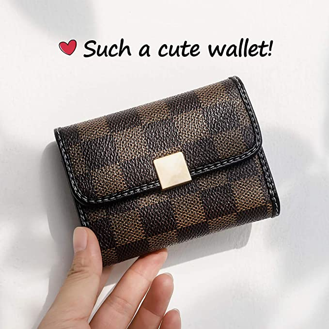 Auner Womens Small Rfid Credit Card Holder Case Wallet Cute Leather Coin Purse