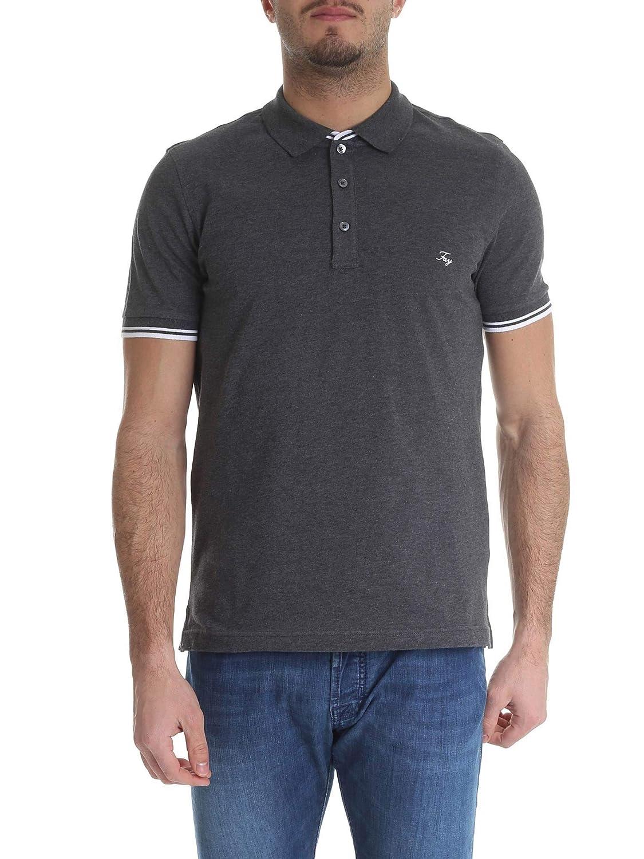 Brand Size S FAY Men's NPMB238134SITOB400 Grey Cotton Polo Shirt